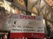 Galerie Spende Förderverein 750 Euro